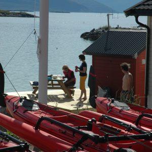 sea kayaking trips in Norway at Kvaloya with 69 NORD