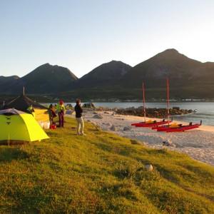 Raid en hobie kayaks Sommaroy Grøtfjorden